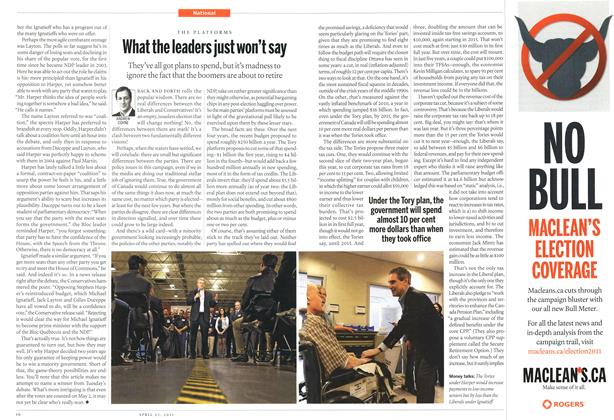 Article Preview: What the leaders just won't say, April 2011 | Maclean's