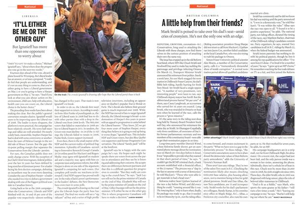 Article Preview: A little help from their friends?, May 2011 | Maclean's