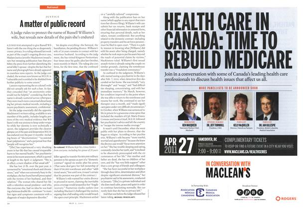 Article Preview: A matter of public record, May 2011 | Maclean's