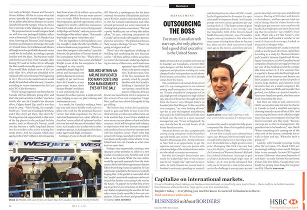 Article Preview: OUTSOURCING THE BOSS, May 2011 | Maclean's