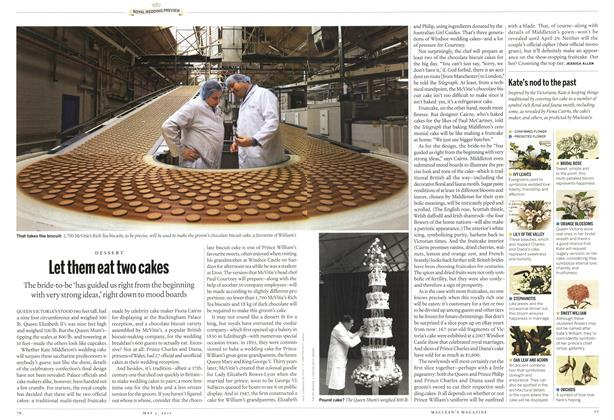 Article Preview: Let them eat two cakes, May 2011 | Maclean's