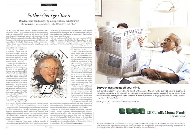 Article Preview: Father George Olsen, May 2011 | Maclean's