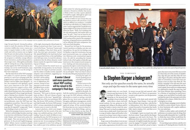 Article Preview: Is Stephen Harper a hologram?, May 2011 | Maclean's