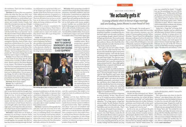 Article Preview: 'He actually gets it', May 2011 | Maclean's
