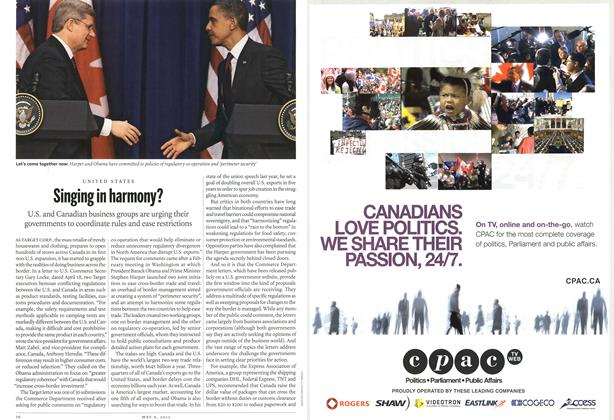 Article Preview: Singing in harmony?, May 2011 | Maclean's