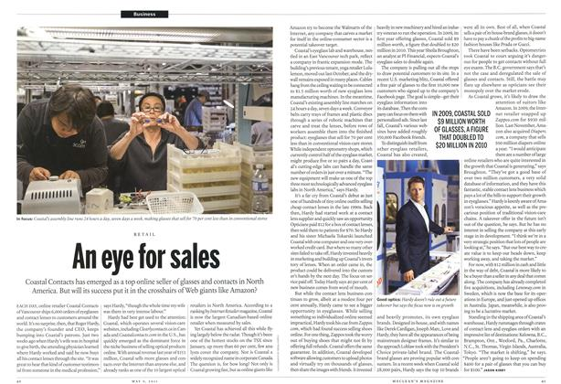 Article Preview: An eye for sales, May 2011 | Maclean's