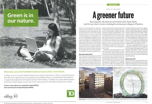 Article Preview: A greener future, May 2011 | Maclean's