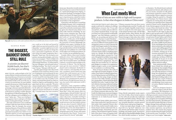 Article Preview: THE BIGGEST, BADDEST DINOS STILL RULE, May 2011 | Maclean's
