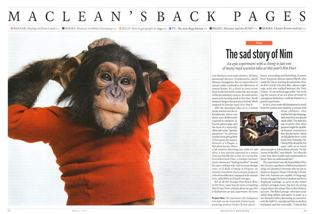 Article Preview: The sad story of Nim, May 2011 | Maclean's