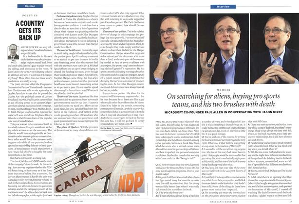 Article Preview: On searching for aliens, buying pro sports teams, and his two brushes with death, May 2011 | Maclean's