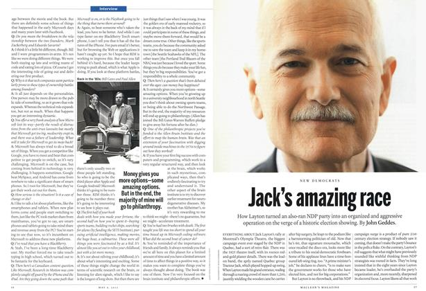 Article Preview: Jack's amazing race, May 2011 | Maclean's