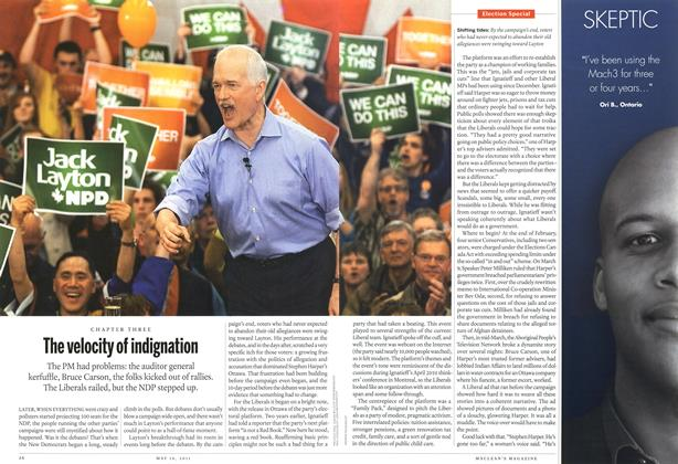 Article Preview: The velocity of indignation, May 2011 | Maclean's