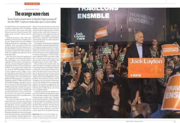 Article Preview: The orange wave rises, May 2011 | Maclean's