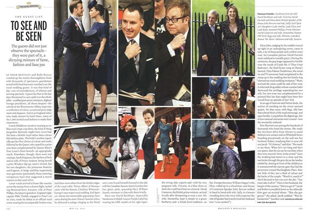 Article Preview: TO SEE AND BE SEEN, May 2011 | Maclean's