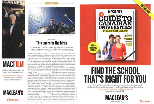Article Preview: This one's for the birds, May 2011 | Maclean's