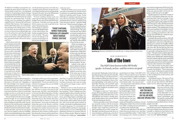 Article Preview: Talk of the town, May 2011 | Maclean's