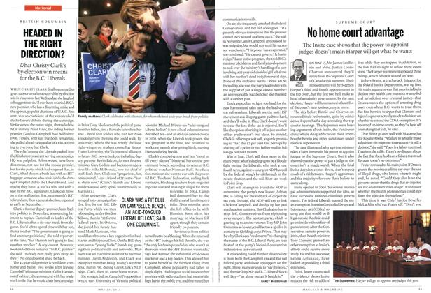 Article Preview: HEADED IN THE RIGHT DIRECTION?, May 2011 | Maclean's