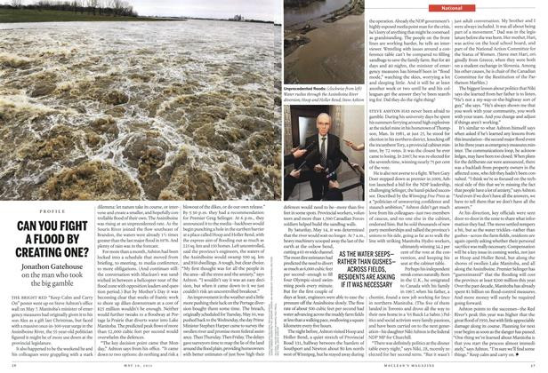 Article Preview: CAN YOU FIGHT A FLOOD BY CREATING ONE?, May 2011 | Maclean's