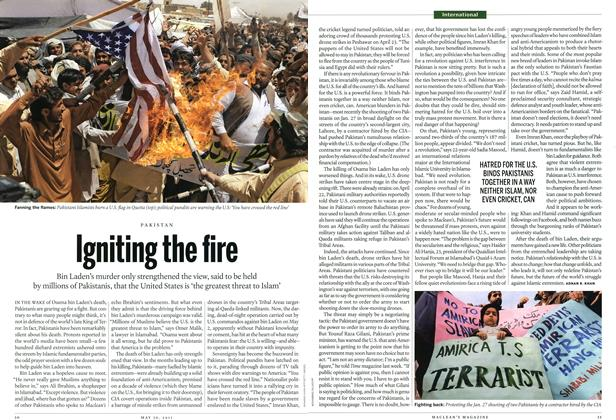Article Preview: Igniting the fire, May 2011 | Maclean's