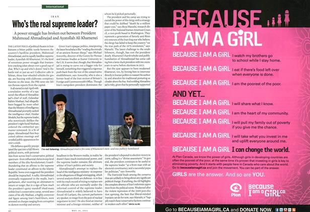 Article Preview: Who's the real supreme leader?, May 2011   Maclean's