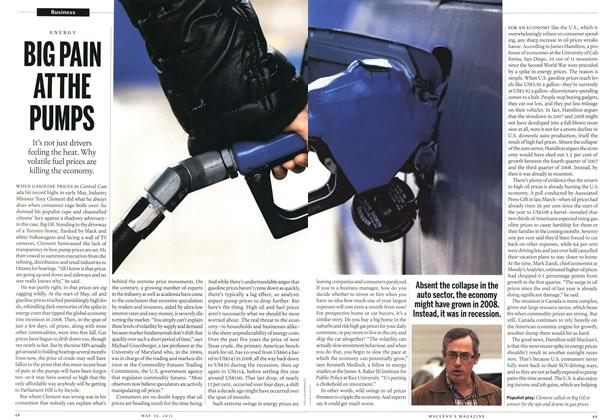 Article Preview: BIG PAIN ATTHE PUMPS, May 2011 | Maclean's
