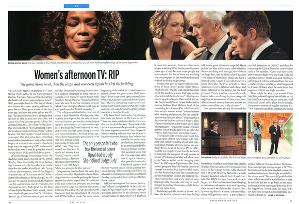 Article Preview: Women's afternoon TV: RIP, May 2011 | Maclean's