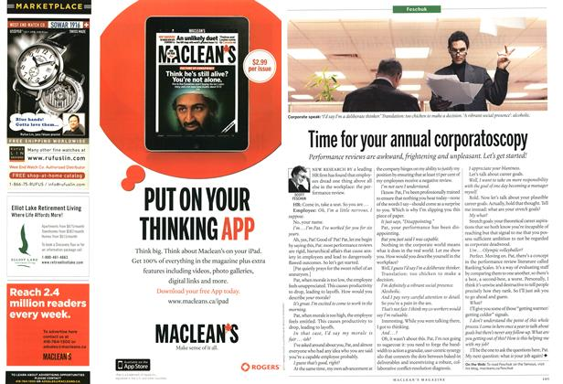 Article Preview: Time for your annual corporatoscopy, May 2011 | Maclean's