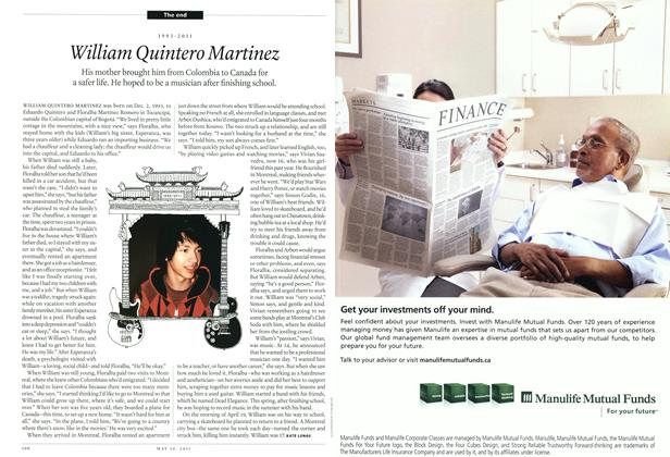 Article Preview: 1993-2011 William Quintero Martinez, May 2011 | Maclean's