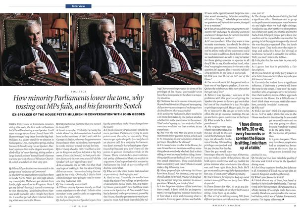 Article Preview: How minority Parliaments lower the tone, why tossing out MPs fails, and his favourite Scotch, June 2011 | Maclean's