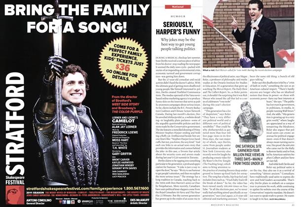 Article Preview: SERIOUSLY, HARPER'S FUNNY, June 2011   Maclean's