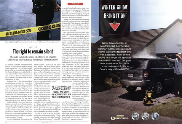 Article Preview: The right to remain silent, June 2011 | Maclean's