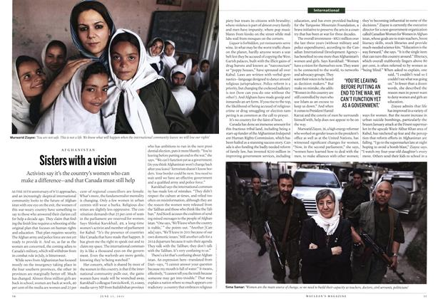 Article Preview: Sisters with a vision, June 2011 | Maclean's