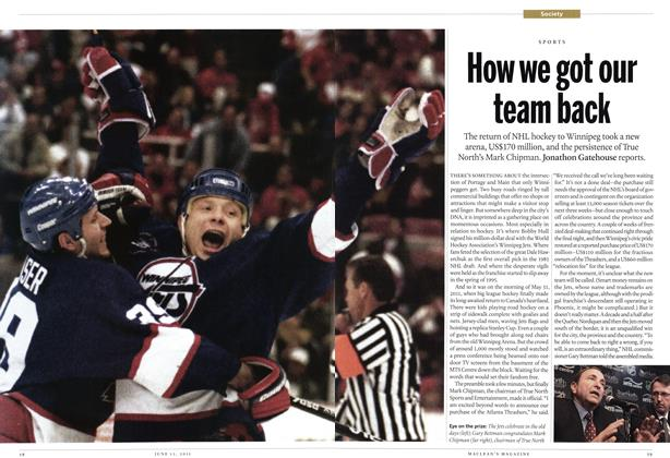 Article Preview: How we got our team back, June 2011 | Maclean's