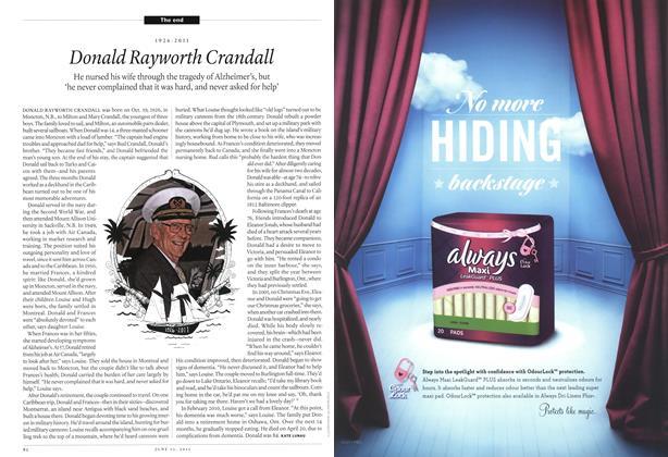Article Preview: 1926-2011 Donald Rayworth Crandall, June 2011 | Maclean's