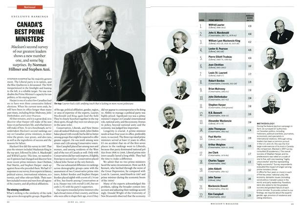 Article Preview: CANADA'S BEST PRIME MINISTERS, June 2011 | Maclean's