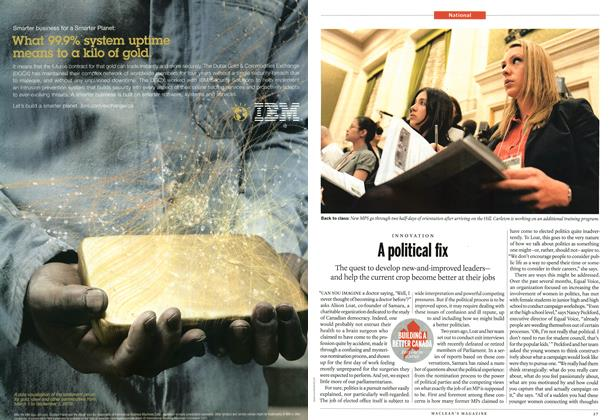 Article Preview: A political fix, June 2011   Maclean's