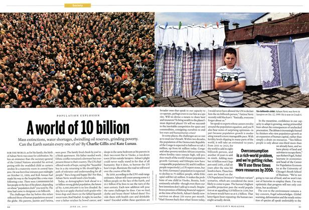 Article Preview: A world of 10 billion, June 2011 | Maclean's