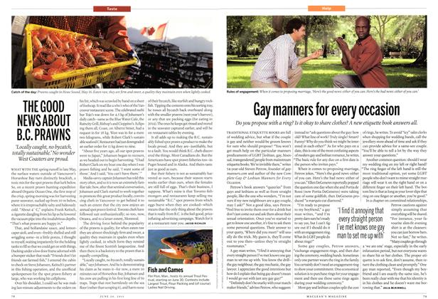 Article Preview: THE GOOD NEWS ABOUT B.C. PRAWNS, June 2011   Maclean's