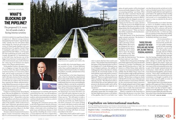 Article Preview: WHAT'S BLOCKING UP THE PIPELINE?, June 2011 | Maclean's