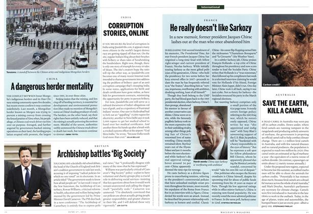Article Preview: Archbishop battles 'Big Society', June 2011 | Maclean's