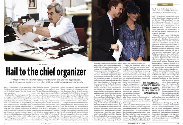Article Preview: Hail to the chief organizer, June 2011 | Maclean's