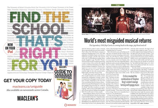 Article Preview: World's most misguided musical returns, June 2011 | Maclean's