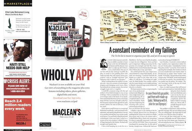 Article Preview: A constant reminder of my failings, June 2011 | Maclean's