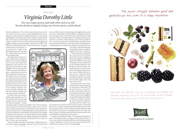 Article Preview: 1942-2011 Virginia Dorothy Little, June 2011 | Maclean's