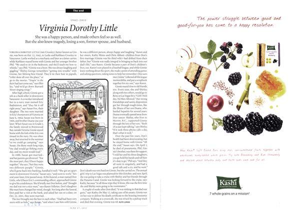 Article Preview: 1942-2011 Virginia Dorothy Little, June 2011 | Maclean's