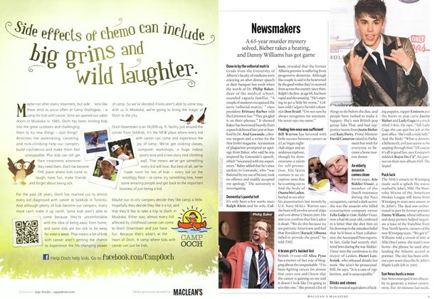 Article Preview: Newsmakers, June 2011 | Maclean's