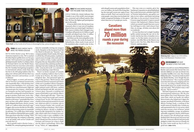 Article Preview: GOLF WE HAVE MORE PASSION FOR THE GAME THAN THE SCOTS, July 2011 | Maclean's