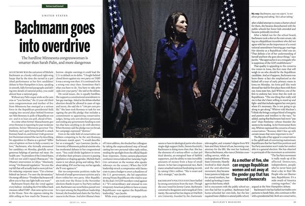Article Preview: Bachmann goes into overdrive, July 2011 | Maclean's
