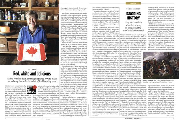 Article Preview: Red, white and delicious, July 2011 | Maclean's