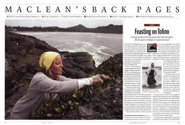 Article Preview: Feasting on Tofino, July 2011 | Maclean's